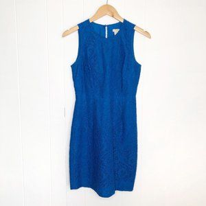 J. Crew Blue Lace Mini Dress Size 0 Petite